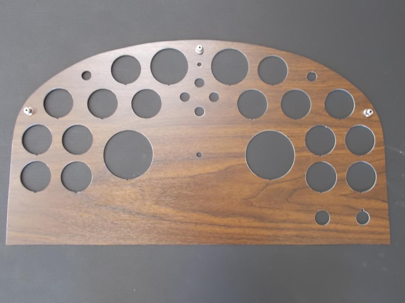 Custom Peterbilt 359 Wood Grain Dash Panels