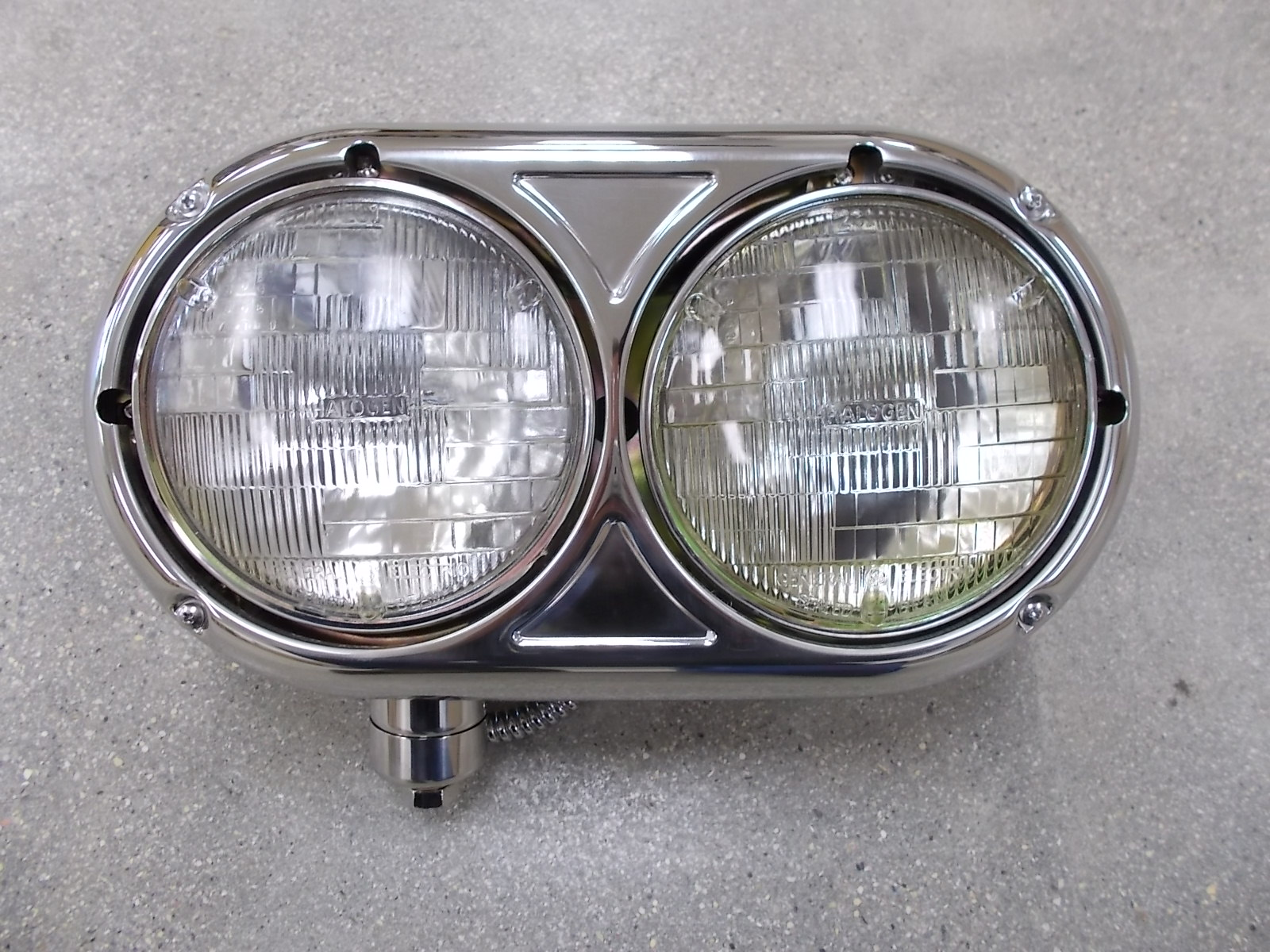 Peterbilt 359 Style Dual Headlight With Vintage Halogen Bulb, Driver Side