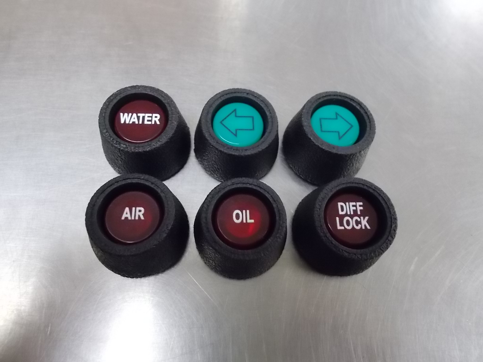 Peterbilt Dashboard Indicator Lenses With Rubber Grommets
