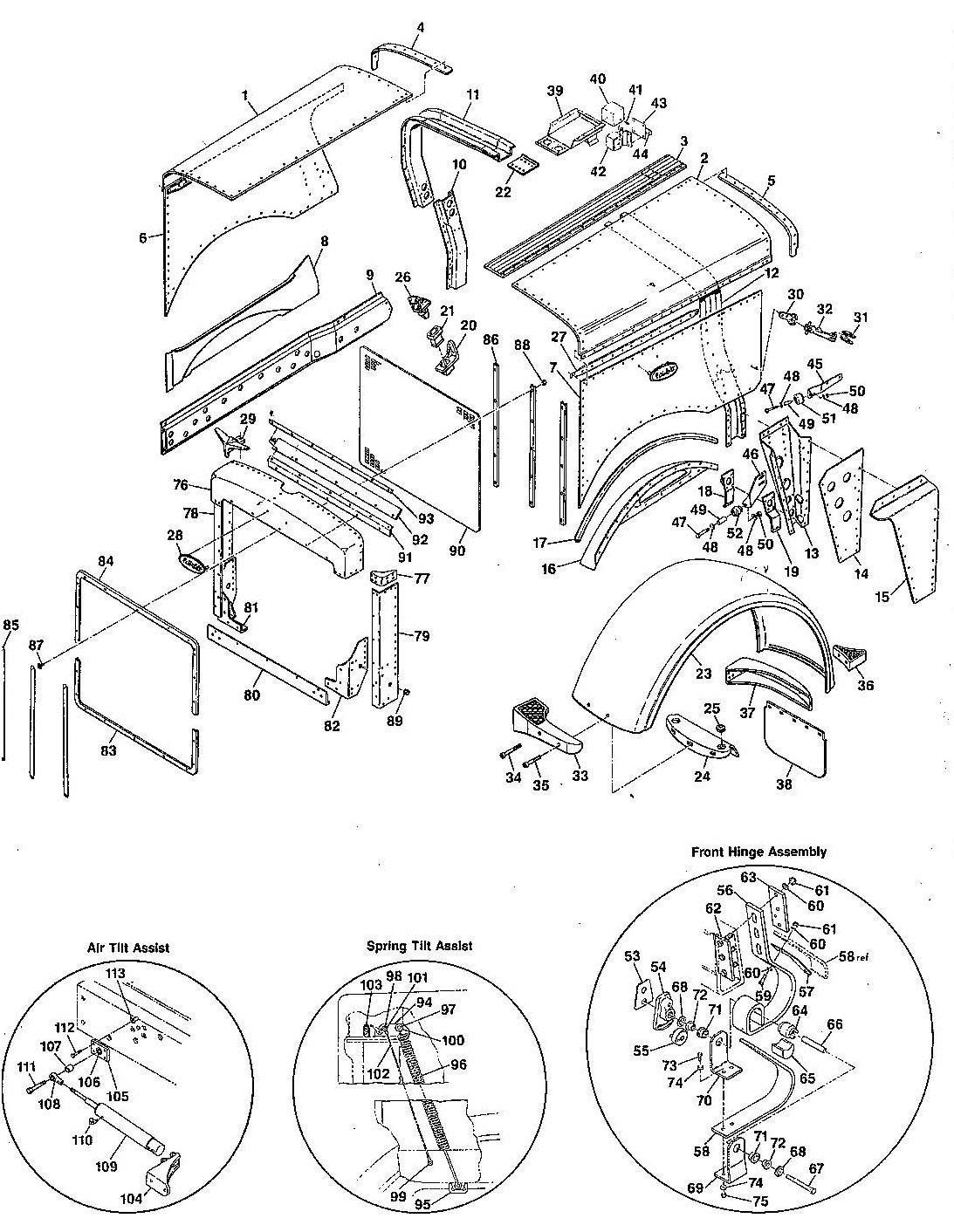 Hood Diagram  U0026 Parts